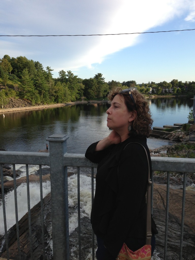 Marianne by the river in Bracebridge