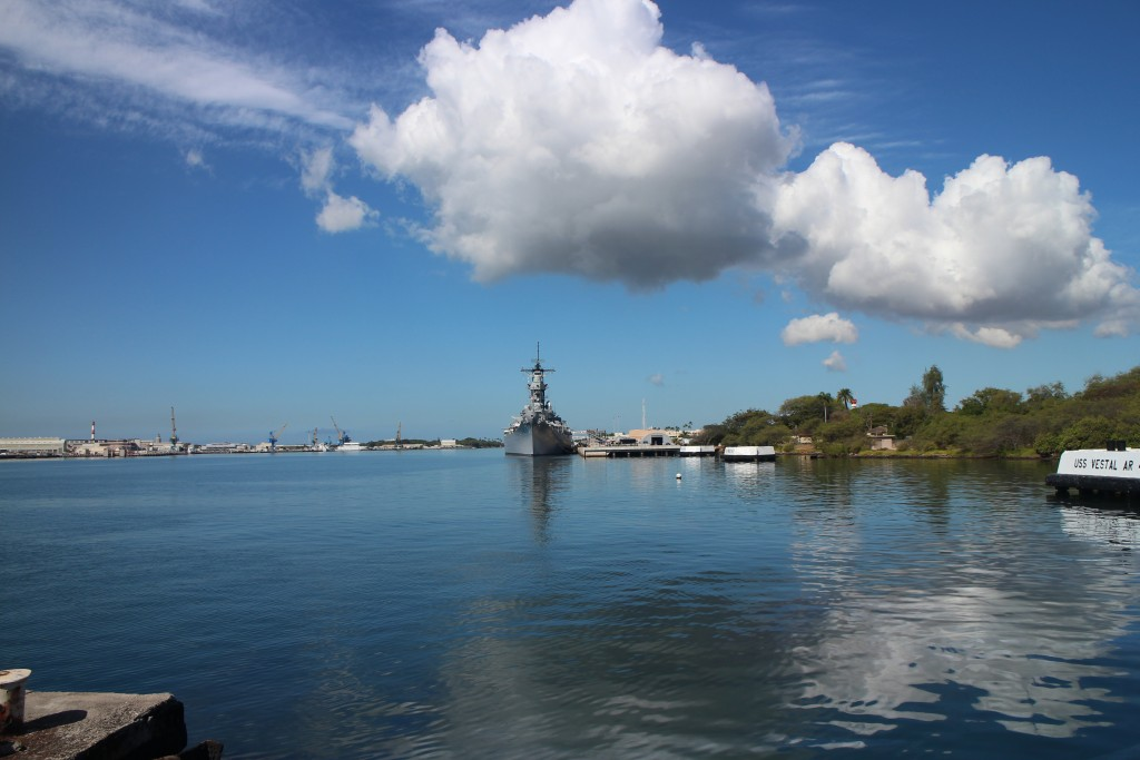 At the Pearl Harbor memorial