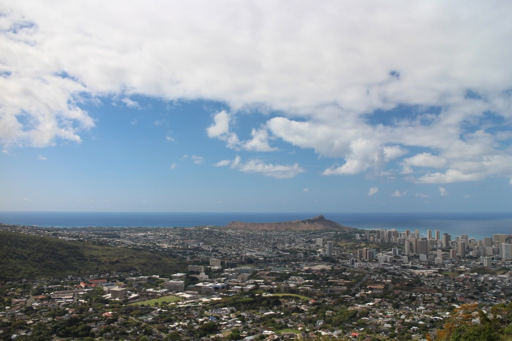 View of Oahu and Diamond Head