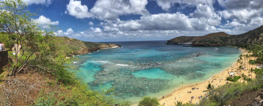 Panorama of Hanauma Bay