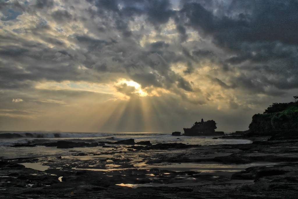Sunset in Tanah Lot, June 8.